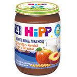 """HIPP Био бебешка каша """"Лека нощ"""" грис, ябълки и праскови 4м+ 190 гр."""